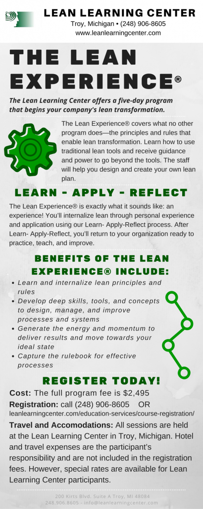 The Lean experience®-june-class